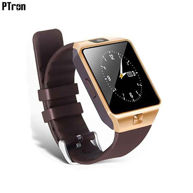 PTron Tronite Bluetooth Smartwatch With Phone Support Camera For Oppo F3 (Bronze)