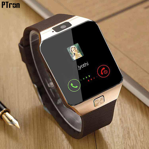 PTron Tronite Bluetooth Smartwatch With Camera Support For Samsung Galaxy C9 Pro (Bronze)