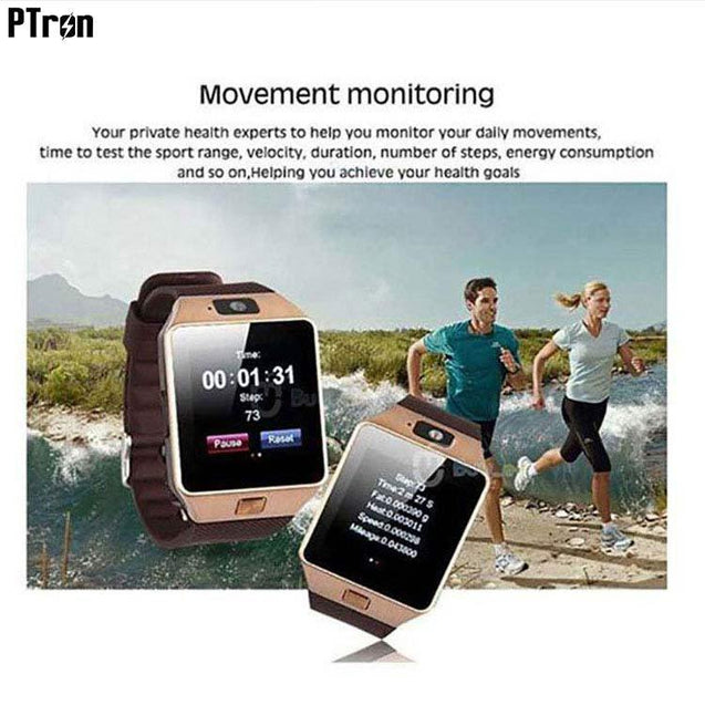 PTron Tronite Bluetooth Smartwatch With Phone Support Camera For All iPhones (Bronze)