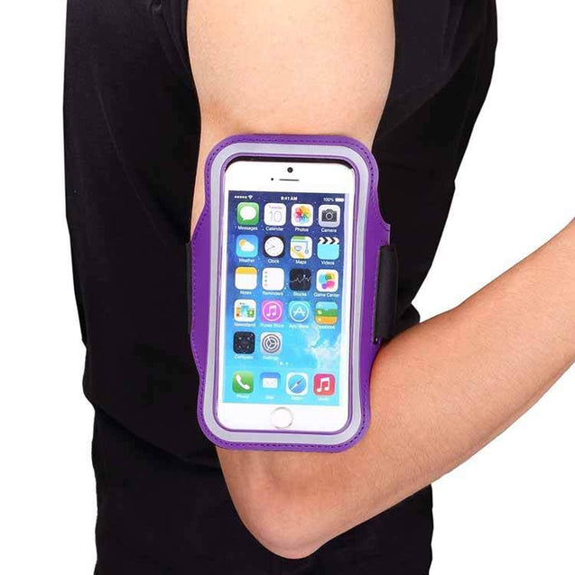 Samsung Galaxy S3 S4 S5 Slim Trendy Armband Fashion Sports Exercise Gym Smartphone Case Purple