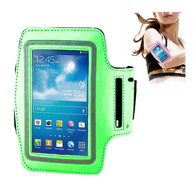 Samsung Galaxy S3 S4 S5 Slim Trendy Armband Fashion Sports Exercise Gym Smartphone Case Green