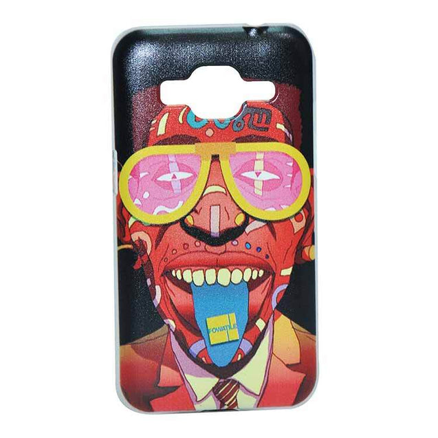 Samsung Galaxy Core Prime Back Cover Red Color Man Printed Fashion Hard Back Case