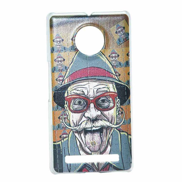 Yu Yuphoria Back Cover Old Man Mustache Printed Fashion Hard Back Case