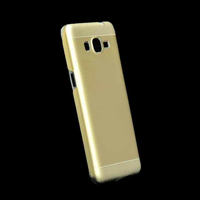 Samsung Grand Prime Dual Layer Back Cover Motomo Hard Back Case Gold