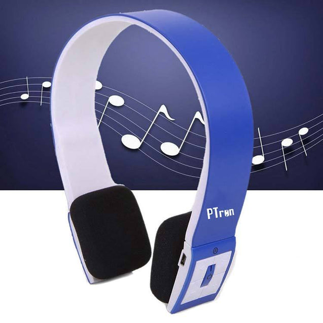 PTron Bluetooth Wireless Headset BH23 Bluetooth High Quality Headphone (Blue)