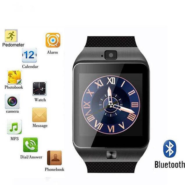 PTron Tronite Bluetooth Smartwatch With Camera Wrist Watch For Mobile Smartphones (Dark Grey