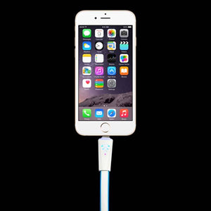 USB Lightning Cable Sync Data Cable Charger For Apple iPhone 5 SmartPhone White Blue