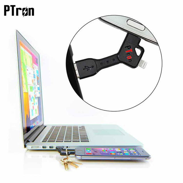 PTron High quality multi function y shape 2 in 1 usb data cable