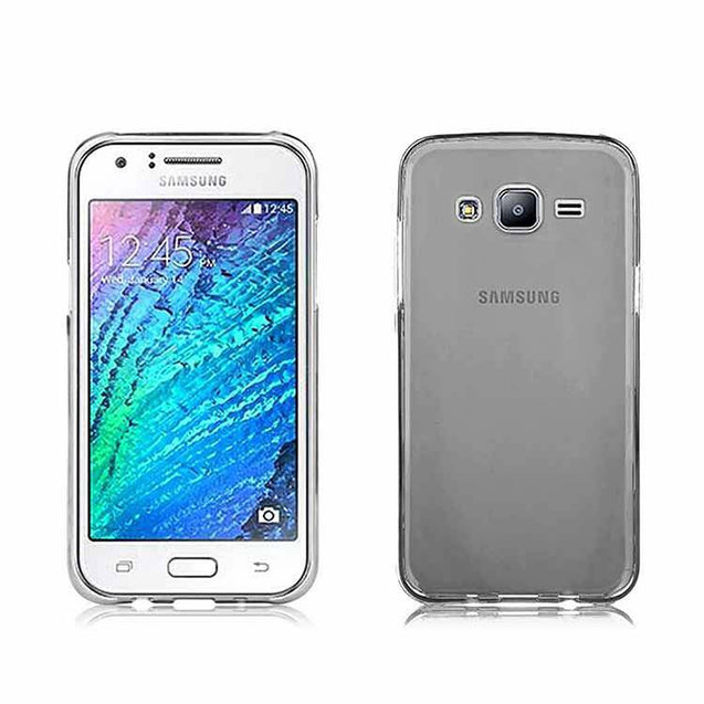 samsung galaxy j7 back cover soft back tpu case with screen guard light grey