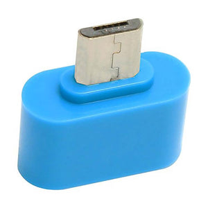 universal micro usb otg adapter otg connector for tablets and mobiles blue