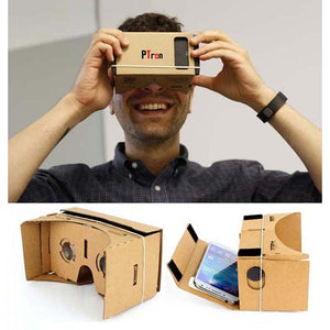 PTron Google Cardboard Box Virtual Reality 3D Viewing Galsses DIY Kit For All Smartphones