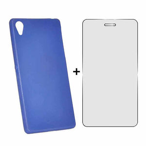 Sony Xperia Z2 Back Cover TPU Soft Back Case With Screen Guard Blue