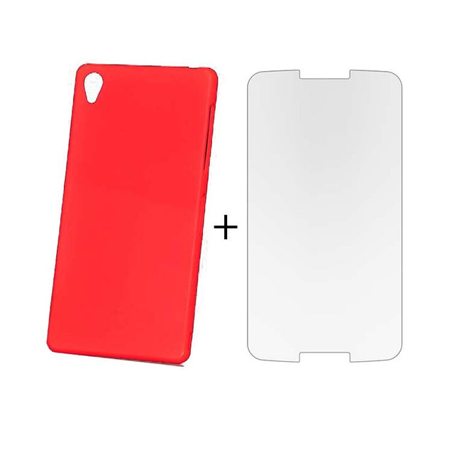 Sony Xperia Z2 Back Cover TPU Soft Back Case With Screen Guard Red