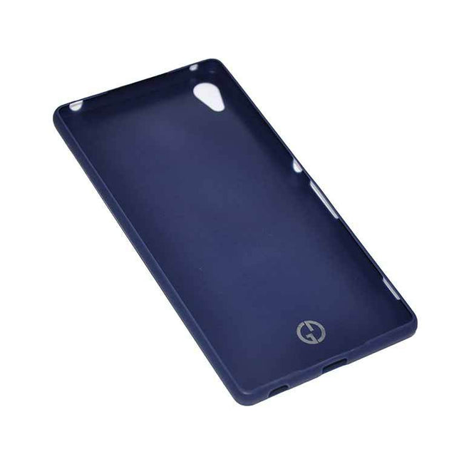 Sony Xperia Z3 Back Cover TPU Soft Back Case With Screen Guard Blue
