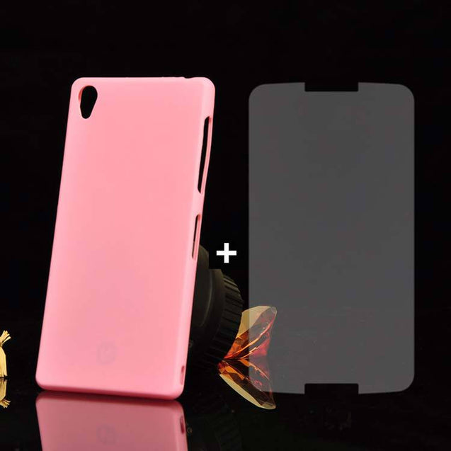 Sony Xperia Z3 Back Cover TPU Soft Back Case With Screen Guard Pink