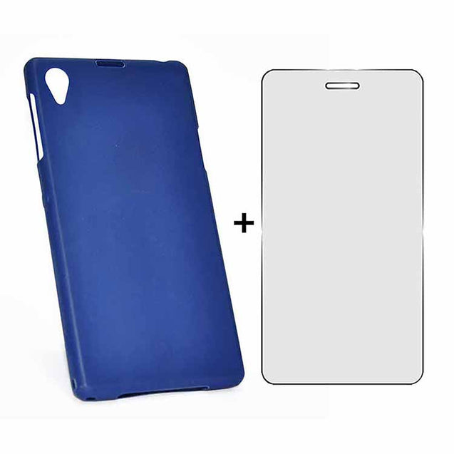 Sony Xperia Z1 Back Cover TPU Soft Back Case With Screen Guard Blue