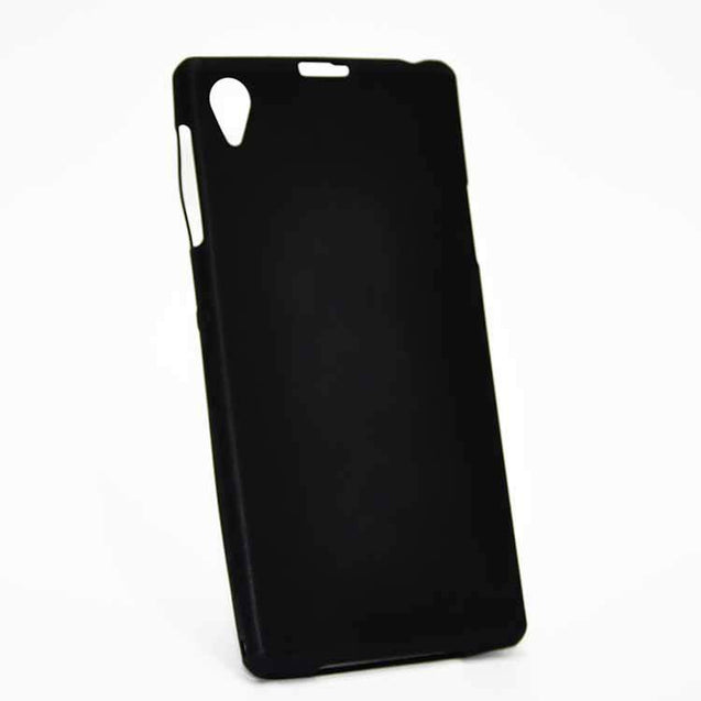 Sony Xperia Z1 Back Cover TPU Soft Back Case With Screen Guard Black