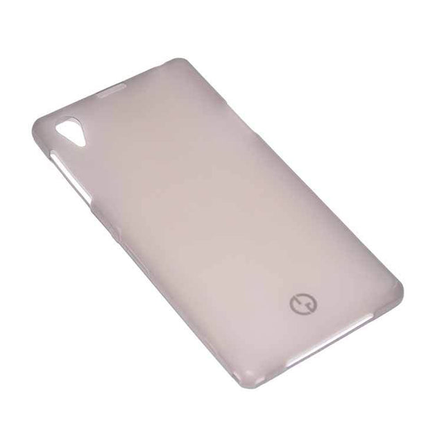 Sony Xperia Z1 Back Cover TPU Soft Back Case With Screen Guard Grey