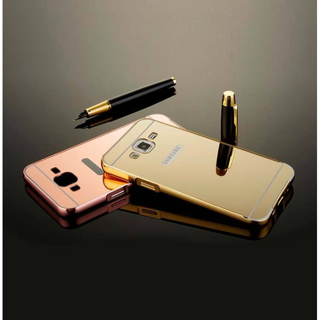 samsung galaxy j5 back cover mirror back case gold