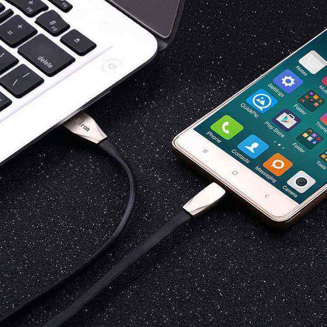 PTron Dual Sided 2 in 1 USB 2.4 Amp Data Cable Sync Charging Cable For All Smartphones