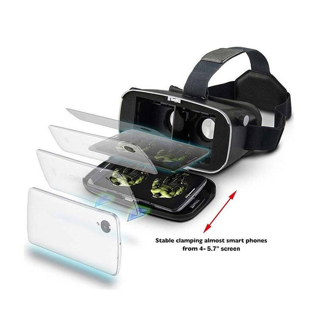PTron Xtreme 360 Virtual Reality Headset Control Virtual Reality 3D Glasses Headset VR Box (Black)