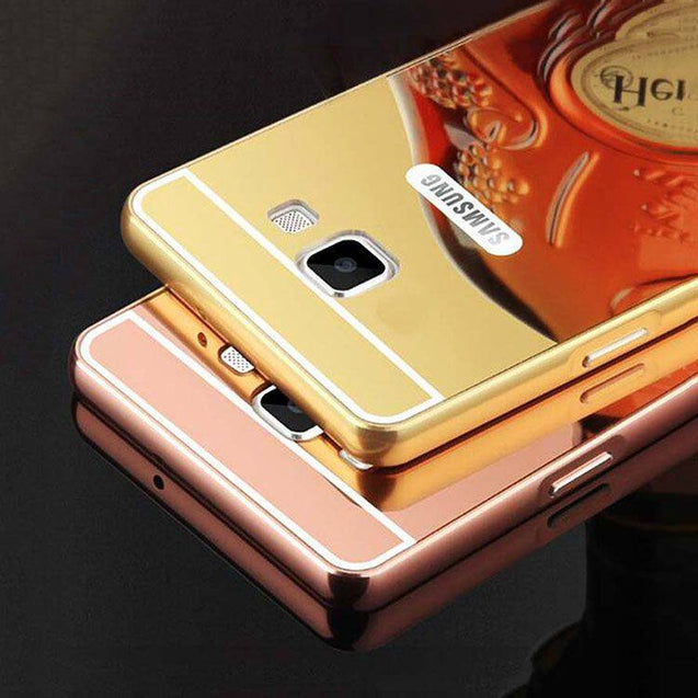 Samsung Galaxy A5 2016 Back Cover Mirror Aluminium Metal Acrylic Metallic Case