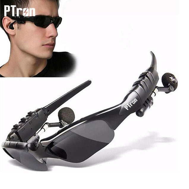 PTron Viki Bluetooth Headset Sunglasses For All IPhones (Black)