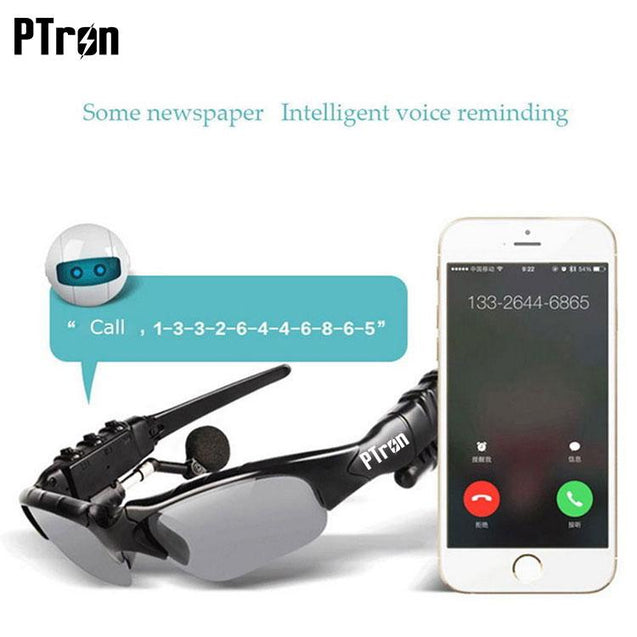 PTron Viki Bluetooth Headset Sunglasses For Samsung Galaxy S9 (Black)