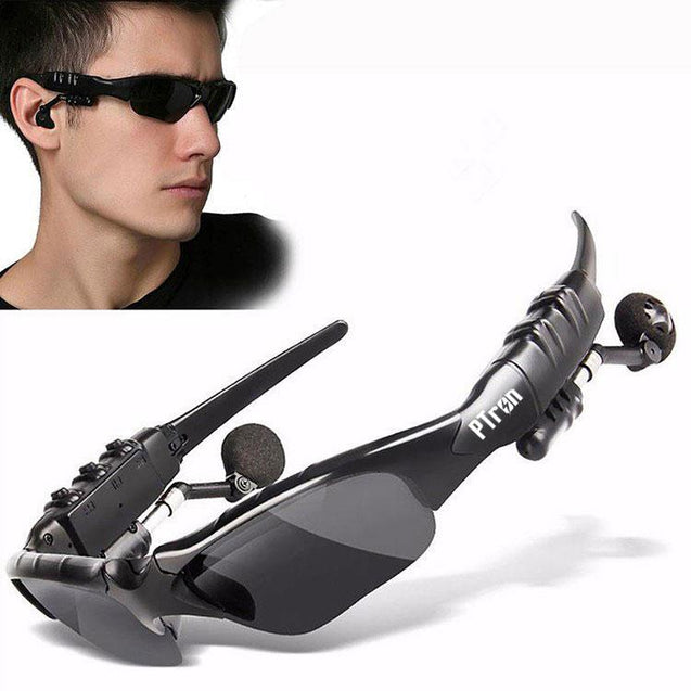 PTron Viki Bluetooth Headset Sunglasses For Samsung Galaxy J7 Max (Black)