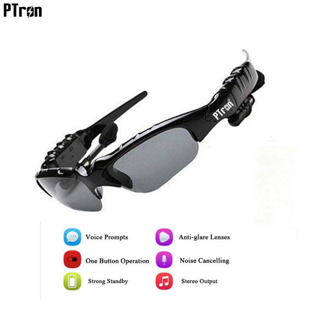 PTron Viki Bluetooth Headset Sunglasses For Vivo V5S (Black)