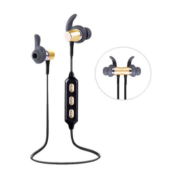 PTron High Quality Bluetooth Headset Deep Bass Wireless Headphone With Mic (Gold)