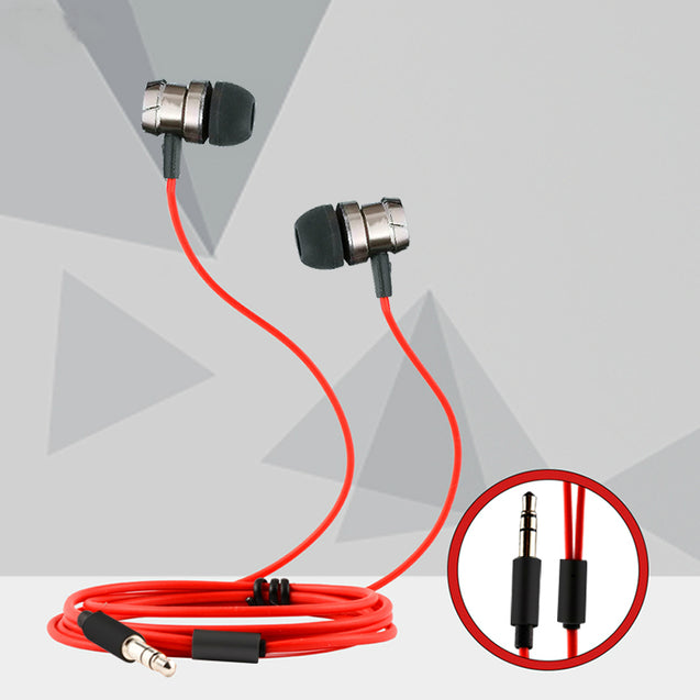 PTron HBE6 Metal Bass Earphone With Mic For Xiaomi Redmi Note 4X (Black & Red)