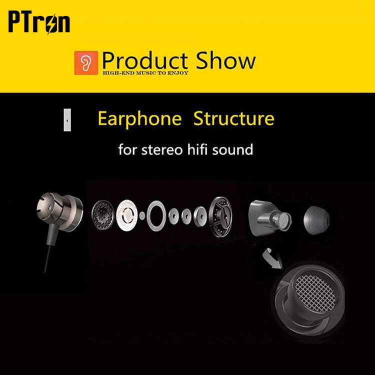 PTron HBE6 Metal Bass Earphone With Mic For Motorola Moto G6 Play (Black &  Red)