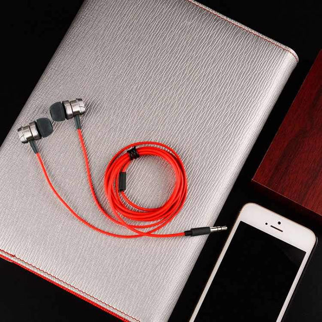 PTron HBE6 Metal Bass Earphone With Mic For All OnePlus Smartphones (Black & Red)