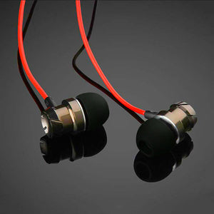 PTron HBE6 Metal Bass Earphone With Mic For OnePlus 3 (Black & Red)