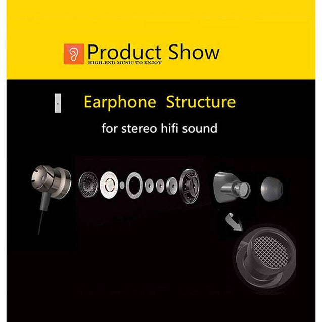 PTron HBE6 Metal Bass Earphone With Mic For Xiaomi Redmi 5A (Black & Red)