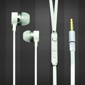 Universal Headphone In Ear Earphone With 3.5mm Jack Mic S81 For All Smartphones (White)