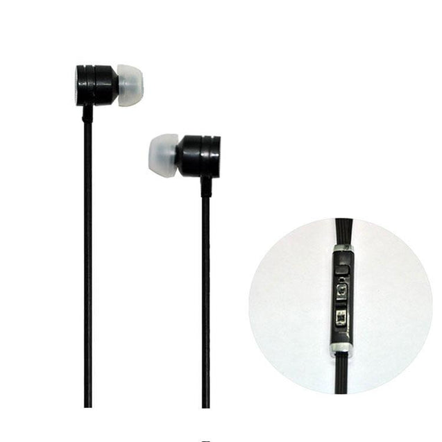Universal Headphone In Ear Earphone With 3.5mm Jack Mic S81 For All Smartphones (Black)