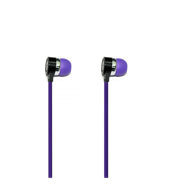 Universal Headphone In Ear Earphone With 3.5mm Jack Mic S81 For All Smartphones (Purple)