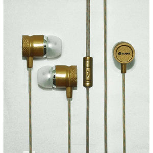 Universal Headphone In Ear Earphone With 3.5mm Jack Mic S13 For All Smartphones (Gold)