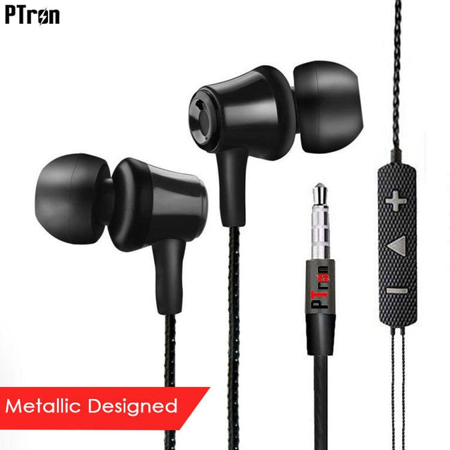 PTron HBE9 Headphone In Ear Earphone With 3.5mm Jack For Xiaomi Mi Note mobile (Black)