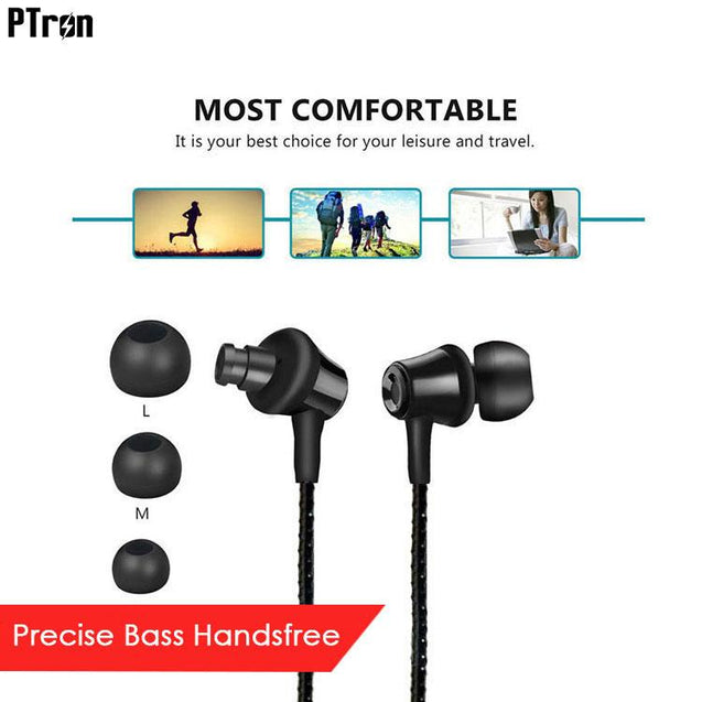PTron HBE9 Headphone In Ear Earphone With 3.5mm Jack For Xiaomi Mi Max Prime (Black)