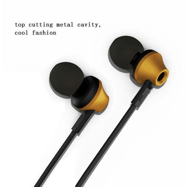 PTron HBE9 Headphone For Xiaomi Redmi 4 Stereo In Ear Earphone With 3.5mm Jack (Gold)