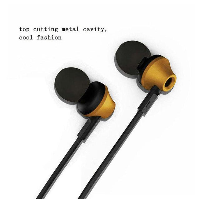 PTron HBE9 Headphone For iPhone 4 4S Stereo In Ear Earphone With 3.5mm Jack (Gold)