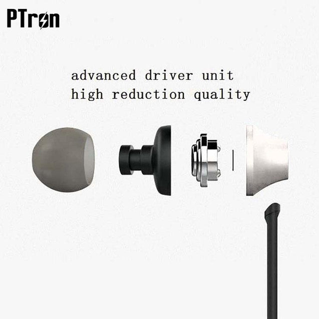 PTron HBE9 Headphone Stereo In Ear Earphone With 3.5mm Jack For Vivo V9 (silver)