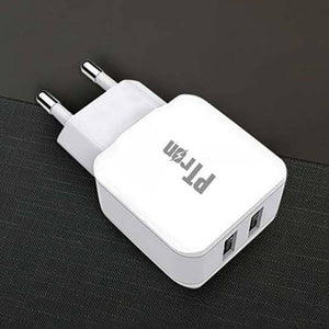 For Xiaomi Redmi Note 4 PTron 2A 2 Port USB Charger Adaptor (White)