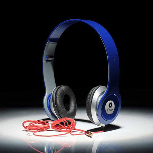 Xmate High Quality Stereo Headphones With 3.5mm Jack For All Smartphones (Blue)