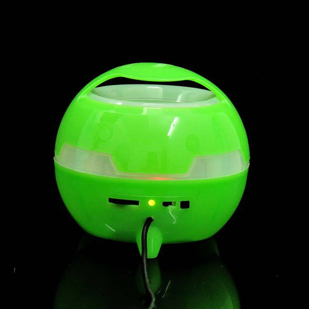 Universal Mobile Round Shaped Speaker & In-Built Rechargeable Battery For All Smartphones Green