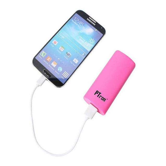 PTron Flash Mini 3000mah Power Bank For All Oppo Smartphones (Pink)