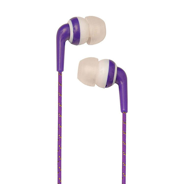 Universal In Ear Earphones With Mic 3.5mm Jack Compatible For All Smartphones (Purple/Gold)